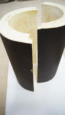Скорлупа ППУ Комплект для заделки стыков надевается на стык  и закрепляется с помощью комплектующих, состоящих из термоусадочной муфты и термоусадочной манжеты