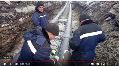 Видео монтажа теплоизоляции для труб Т�С 70 на объекта в городе Полевской