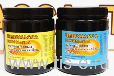 «Жидкий пенопласт» 0,8 литра (400мл+400мл), Из одного комплекта  Вы получите 1 – 9,6 литра твердой «Пеномассы»