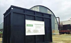 Непотопляемая Гранула пенопласта ТИС применяется в качестве плавающей загрузки в очистных сооружениях производимых Резервуарным заводом «Вессел»