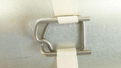 Скорлупа ППУ Пряжка проволочная для полипропиленовой ленты 16мм