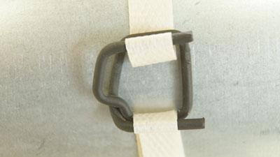 Скорлупа ППУ Пряжка проволочная черная для ленты 13 мм