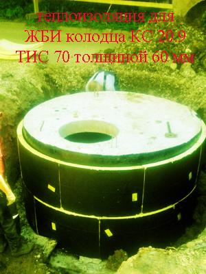 Комплект Теплоизоляции для утепления бетонных колодцев