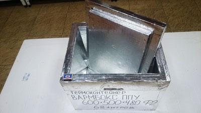 Термоконтейнер Вармбокс ППУ Ф2 фольгированы все поверхности термоконтейнера