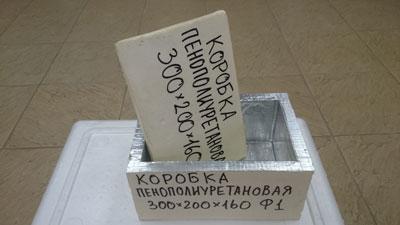 Термоконтейнер Вармбокс ППУ-Ф1 300мм * 200мм * 160мм Фольгированный