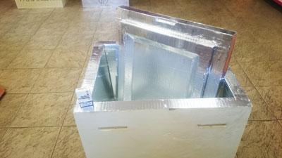Коробка ППУ  770х670х660 объемом 155 литров для охлажденной продукции