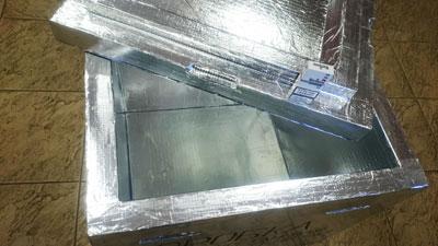 Очень вместительные коробки из пенополиуретана на 155 литров объемом